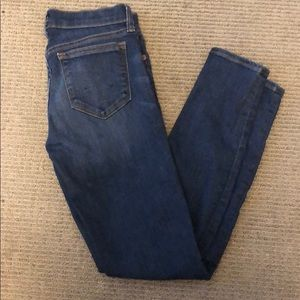 JCREW toothpick dark wash jean